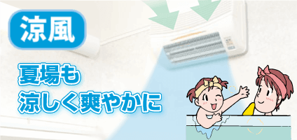 浴室換気乾燥暖房機 涼風機能