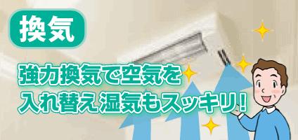 浴室換気乾燥暖房機 換気機能